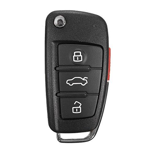 Viviance Neue 3 + 1-Tasten Remote-Schlüssel-Fob-Gehäuse Uncut Blade Für Audi A6 A4 A2 A8 Tt Q7