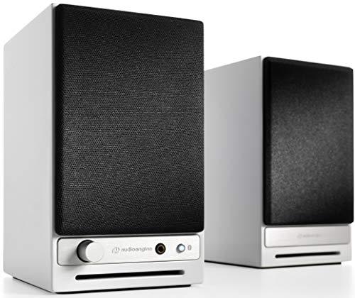 Audioengine HD3 60W Kabellose Aktiv-Desktop-Lautsprecher   Eingebauter USB 24-Bit DAC & Analogverstärker   aptX HD Bluetooth, USB, Cinch und 3,5 mm-Klinken-Eingänge   Kabel inklusive