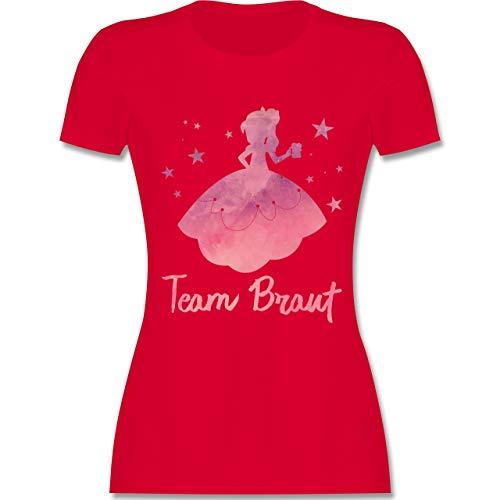 Rot Prinzessin Braut Kostüm - JGA Junggesellinnenabschied - JGA Prinzessin - Team Braut - XXL - Rot - L191 - Damen Tshirt und Frauen T-Shirt