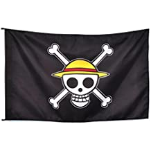 CoolChange bandera con símbolo de Jolly Rogers del equipaje Sombreros de  Paja de One Piece 6cf48c9ca11