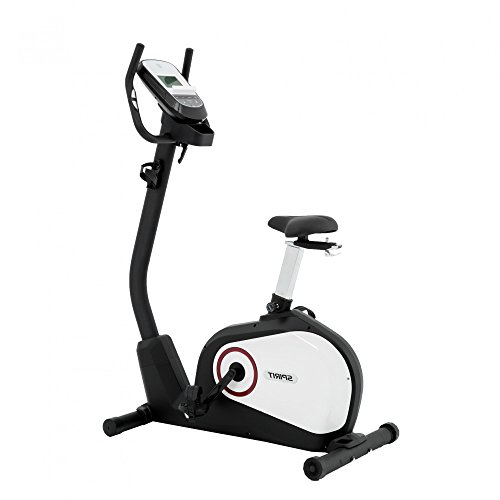 Spirit Upright Bike DBU 20 - Heimtrainer, Fitness Indoor Bike, Ergometer mit Hand-Puls-Sensoren