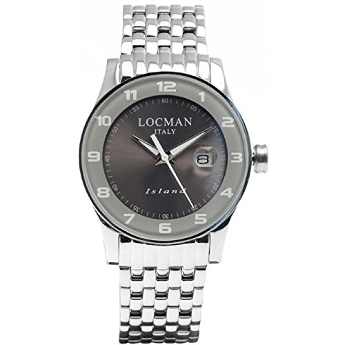 Watch Locman Island 060000 agagw2br0 Quartz (Rechargeable) quandrante Grey Strap Stainless Steel