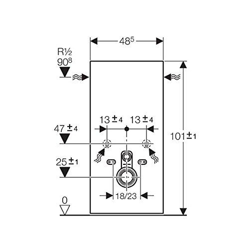 Geberit Spülmechanismus/Cist. Vista-Monolith WC KB04unten Glas grün Aluminium