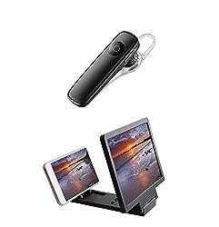 Zaptin K1 Universal Wireless 4.1 Bluetooth Earpiece with Mobile Phone 3D Screen Magnifier