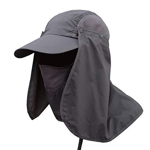 ATezi Sommer - Sonne - Hut, 360 ° uv - Schutz Sonne Breiten Rand Gap abnehmbaren mesh Hals Gesicht flattern auf, UPF 50 + Verschluss für männer und Frauen, Angeln, wandern Bauern -