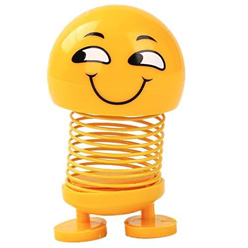 Niedliche Emoji-Schüttelkopf-Puppe, lustiges Smiley-Gesicht, Federn tanzendes Spielzeug für Auto-Armaturenbrett, Party-Geschenke, Heimdekoration 04