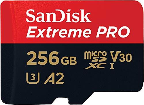SanDisk Extreme Pro Scheda di Memoria microSDXC da 256 GB e Adattatore SD con App...