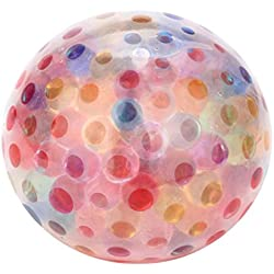 BBsmile Spongy Rainbow Ball Toy Squeezable Stress Squishy Toy Stress Relief Ball para diversión
