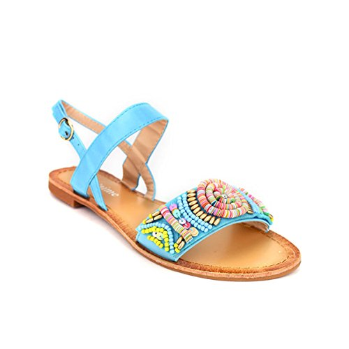 Cendriyon, Sandale Color Turquoise BO'AIME Chaussures Femme Turquoise