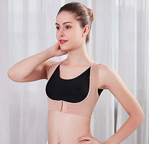 Criss Cross Rücken-unterstützung (Vinmax Frauen Bucklige Haltung Form Corrector Oberen Schulter mit Push up BH, Large)