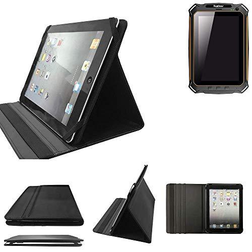 K-S-Trade Ruggear RG900 Schutz Hülle Business Case Tablet Schutzhülle Flip Cover Ultra Slim Bookstyle Tasche für Ruggear RG900, schwarz. Kunstleder Qualitätsware