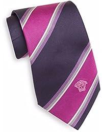 Versace Men's Wide Stripe Silk Tie