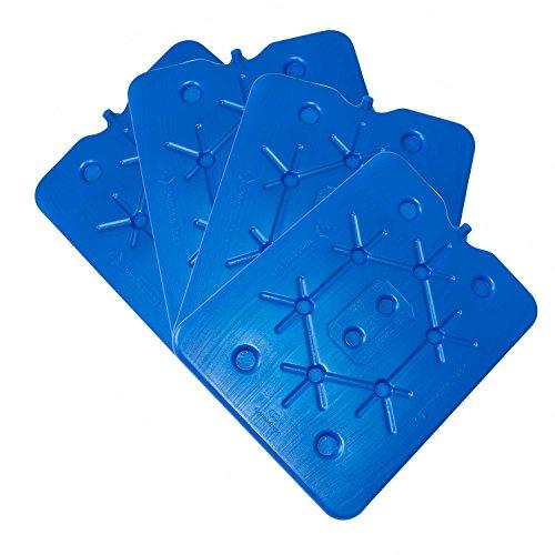 ToCi XXL Kühlakku 4er Set | Freezeboard (32x25 cm) mit je 800 ml | 2 blaue Kühlelemente Iceakku für die Kühltasche Kühlbox Eisbox
