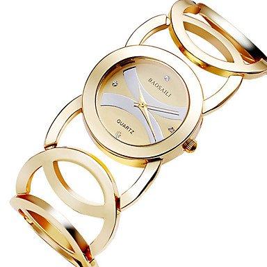 Schöne Uhren, Damen Modeuhr Quartz Armbanduhren für den Alltag Edelstahl