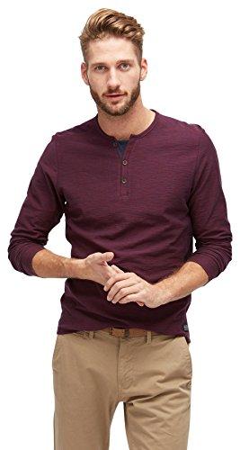 TOM TAILOR für Männer T-Shirt Langarmshirt in Melange-Optik gipsy purple