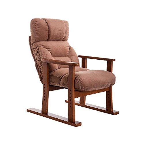 Brilliant firm Deckchairs Liegender Siesta-Stuhl Gartenstuhl Guter Stuhl für Senioren Fashion Home Freizeitstuhl Lounge Chair (Color : Brown)