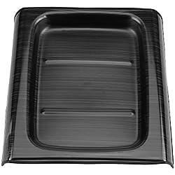 Dibiao Noir en acier inoxydable voiture Bakc ligne arrière moulure décoration de protection couvercle garniture décoration pour Mercedes Classe E W23 16-18