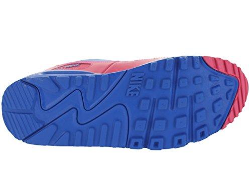 Nike Wmns Air Max 90, Chaussures De Sport, Femme Rose / Bleu / Gris