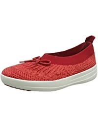33014d40856e81 Fitflop Women s s Uberknit Slip-on Ballerina with Bow Low-Top Slippers