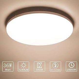 LED Plafoniera 36W Ultra magro UFO Pannello LED Rotondo Bianca Naturale 4000K 3240LM