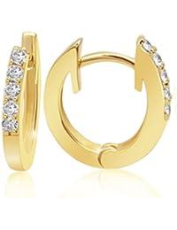 Goldmaid Damen-Creolen Memoire 585 Gelbgold 10 Diamanten 0,16 ct. Ohrringe Brillianten Schmuck