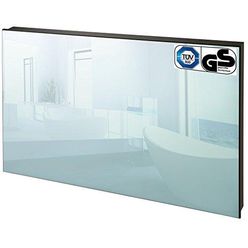 TecTake Spiegel Infrarotheizung Spiegelheizung ESG Glas Elektroheizung Infrarot Heizkörper Heizung inkl. Wandhalterung