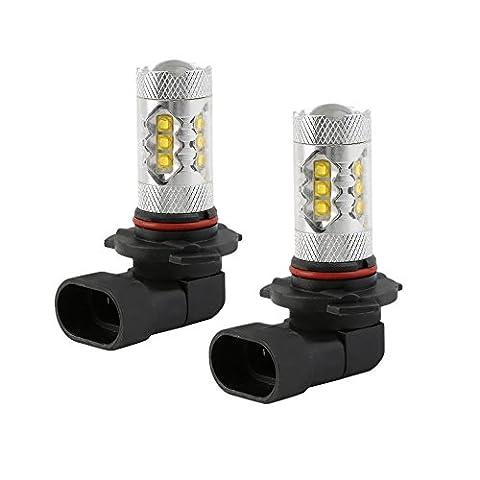 2 Packet HB3 9005 80W Auto LED Nebel lampen Tagfahrlicht DRL Licht Bulb 16 SMD 2828 LED Auto Nebelscheinwerfer DC 12V Auto LED Lampen