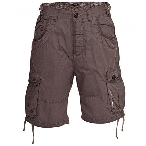 Mens Firetrap Kelnor Cargo Military Multi Pocket Cotton Knee Length Shorts