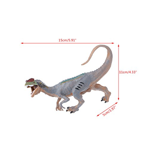 Landum modello per bambini, dinosaur action figure toys modello di educational per bambini con pupazzi dilophosaurus