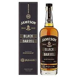 Jameson Black Barrel Irish Whiskey - Blended Irish Whiskey mit Jameson Single Irish Pot Still Whiskeys und seltenem Grain Whiskey - 1 x 0,7 L