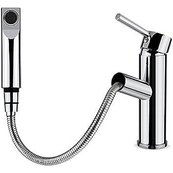 HOMFA Küchenarmatur Wasserhahn ausziehbar Waschtischarmatur mit ...
