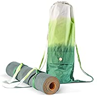 Set Yoga Mat Bag and Strap - Carrying all size Yoga Mat - Handmade Organic Cotton - Large Cargo Pocket Cool Backpack - Yoga Pilates Gym Fitness or Casual - Yoga mat not included