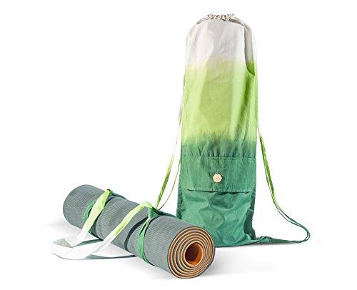 Yogamatten Tasche mit Riemen - in allen Größen - Bio-Baumwolle, Handarbeit - große Trage Tasche als cooler Rucksack - für Yoga Pilates Fitness Freizeit - Yogamatte nicht inbegriffen