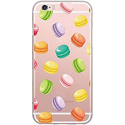 dia del orgullo friki Inonler Macaron interesante suave color transparente funda ()(iPhone 7,Multicolor)