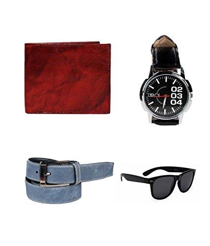 Klaska Lenin Men's Wallet Belt A Wrist Watch (lenin_34_Multicolour_Free Size)
