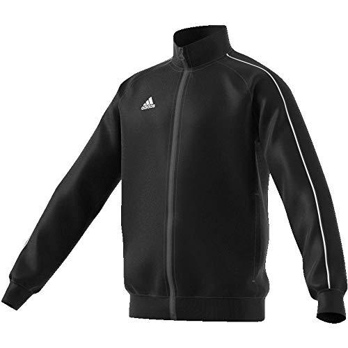 Adidas CE9052 Core 18 Polyester Jacket - Black White  7 - 8 Years