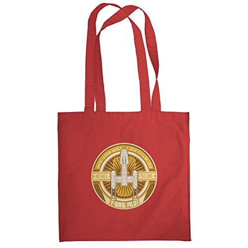 Texlab–Y di Wing pilota Logo–sacchetto di stoffa Rot