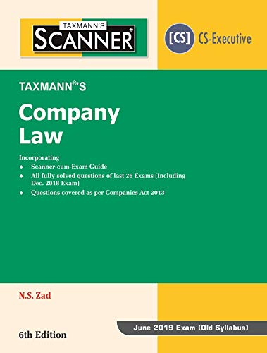 Scanner-Company Law (CS-Executive)(June 2019 Exam-Old Syllabus)(6th Edition January 2019) PDF Descarga gratuita