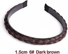 Jisen Hair Bands Synthetic Braided Plaited Hair Extensions Hair Headband Hair Hoop for Girl Women
