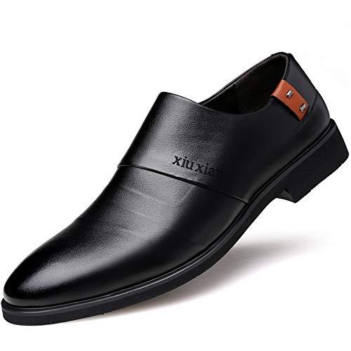 Herren Bestseller Oxford Schuhe Klassische business oxford schuhe für männer aus echtem leder formelle kleidung mode bequeme müßiggänger vegan höhe zunehmende rutschfeste runde zehe slip-on Kleid Oxfo Plain Toe Slip