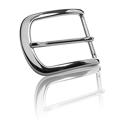 Gürtelschnalle Buckle 40mm Metall Silber Poliert - Buckle London - Dornschliesse Für Gürtel Mit 4cm Breite - Silberfarben Poliert