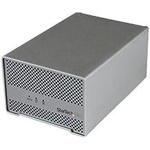 """StarTech.com S252SMTB3 - Caja con cable y ventilador (2 bahías para disco duro SATA III de 2.5"""")"""