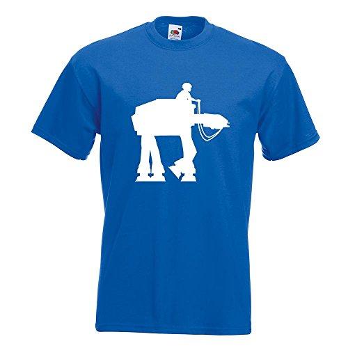 KIWISTAR - Anakin AT-AT T-Shirt in 15 verschiedenen Farben - Herren Funshirt bedruckt Design Sprüche Spruch Motive Oberteil Baumwolle Print Größe S M L XL XXL Royal