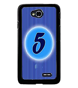 PrintDhaba Numerology Number 5 D-2560 Back Case Cover for LG L90 (Multi-Coloured)