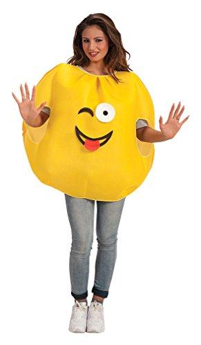 Carnival Toys 61300 - Kostüm Smiley, Universalgröße S-M (Smiley Kostümen)