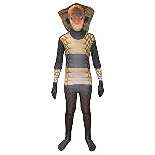Morphsuits KLKCOM - Schlange Animal Planet Kinder Kostüm, 119-136 cm, Größe M