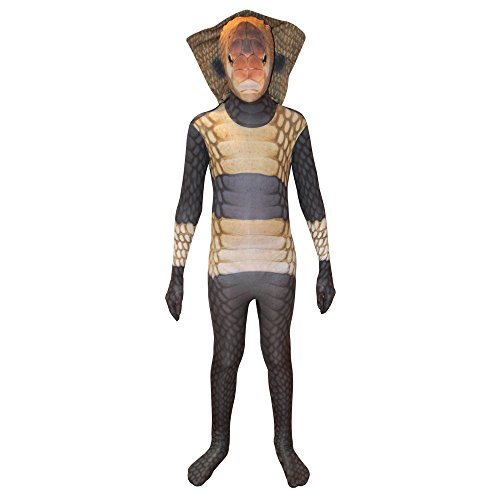 Morphsuits Costume Carnevale Halloween Tuta ufficiale Morphsuit serpente Cobra – bambino Small