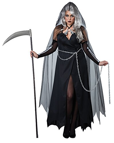 Plus Size Kostüme 3x (Women's Plus Size Lady Reaper Fancy dress costume)