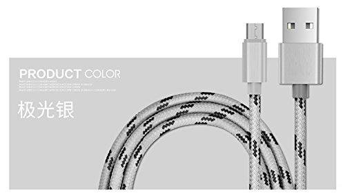 YOUMI USB dimensione del cavo 1M e Gird modello Aspetto cavo del caricatore di materiale di nylon ad alta velocità per iPhone 5 / 5c / 5s / SE / iPhone 6/6 più / 6S / 6S Plus / iPhone 7/7 Plus / iPad  Android White