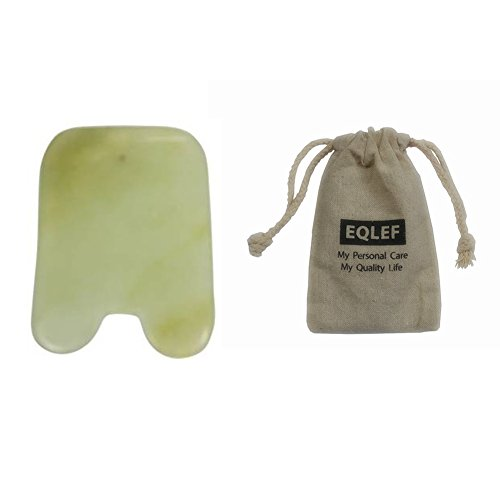 Jade Gua Sha Scraping Massage Tool Hand Made Jade Guasha Board , Tools for Graston SPA Acupuncture Therapy Trigger Point Treatment on Face Arm Foot Small Triangle Shape